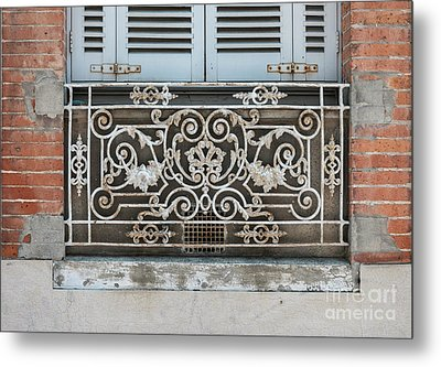 Window In Toulouse Metal Print by Elena Elisseeva