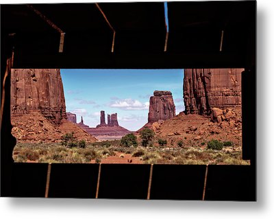 Window Into Monument Valley Metal Print by Eduard Moldoveanu