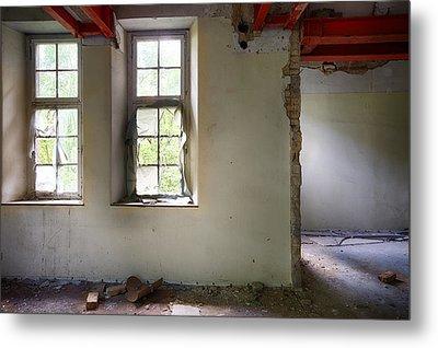 Window Light Abandoned Building Metal Print