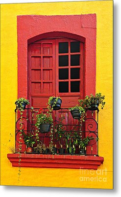 Window On Mexican House Metal Print