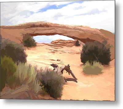 Metal Print featuring the digital art Window On The Valley by Gary Baird