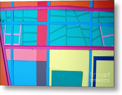 Metal Print featuring the mixed media Window Reflections by Vonda Lawson-Rosa
