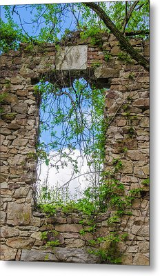 Metal Print featuring the photograph Window Ruin At Bridgetown Millhouse Bucks County Pa by Bill Cannon