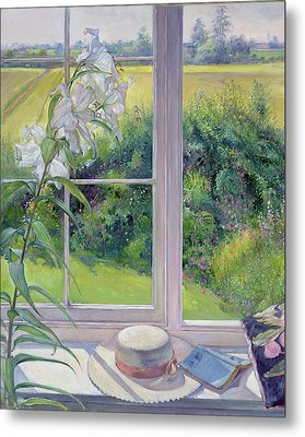 Window Seat And Lily Metal Print