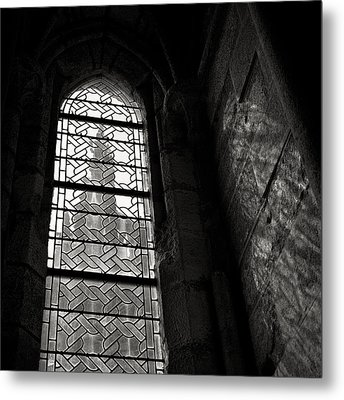 Window To Mont St Michel Metal Print by Dave Bowman