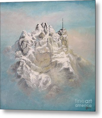 Metal Print featuring the painting Window To Sky by Sorin Apostolescu