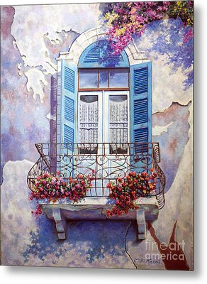Window To The Mediterranean Metal Print