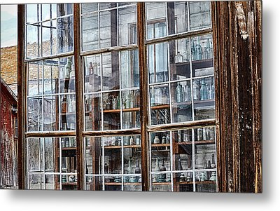 Window To The Past Metal Print by AJ Schibig