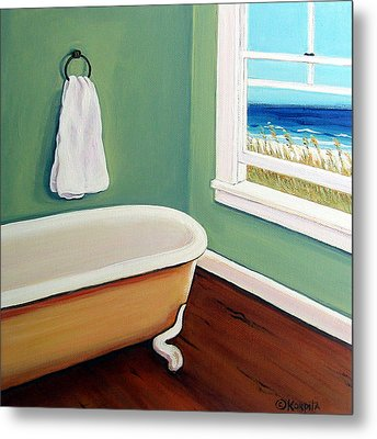 Window To The Sea No. 4 Metal Print by Rebecca Korpita