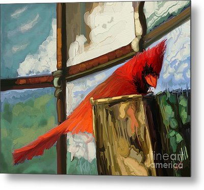 Window To The World Metal Print by Carrie Joy Byrnes