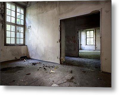 Window To Window - Abandoned School Metal Print