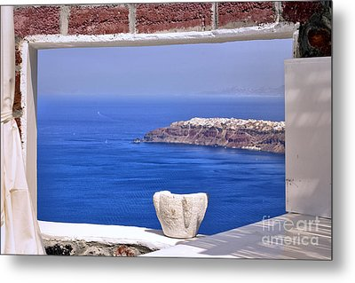 Window View To The Mediterranean Metal Print