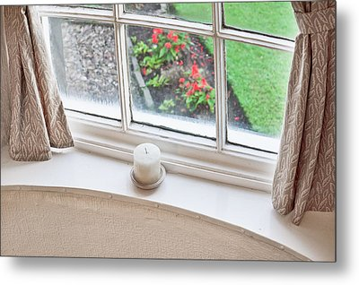 Window View Metal Print