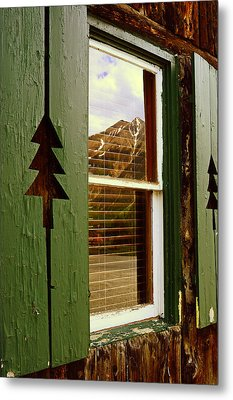 Window With A View  Metal Print