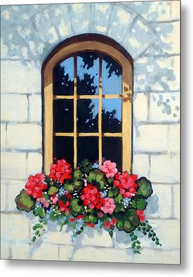 Window With Flower Box Metal Print by Joyce Geleynse