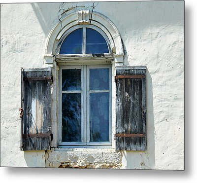 Window With Shutters Metal Print by Marion McCristall