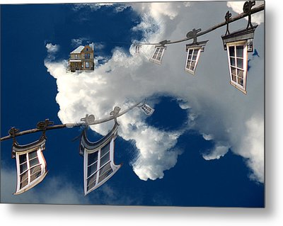 Windows And The Sky Metal Print by Christopher Woods