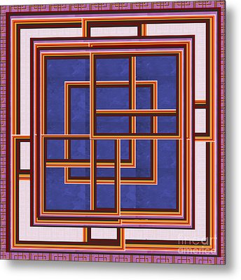Windows Maze Magic Graphic Art Navinjoshi At Fineartamerica.com Elegant Interior Decoractions Print  Metal Print
