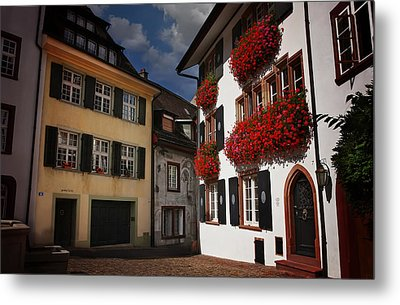 Windows Of Basel Switzerland  Metal Print
