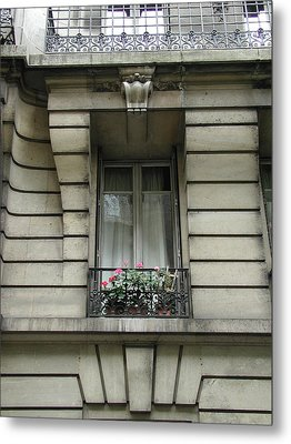 Metal Print featuring the photograph Windows Of Paris by Nancy Taylor