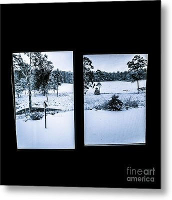 Windows To Winter Metal Print