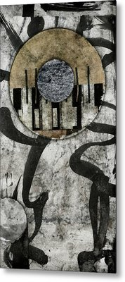 Windriver Collage Metal Print by Carol Leigh