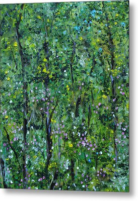 Metal Print featuring the painting Windsor Way Woods by Judith Rhue