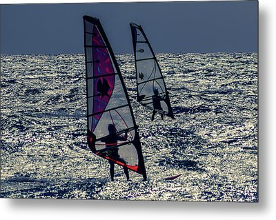 Windsurfers Metal Print