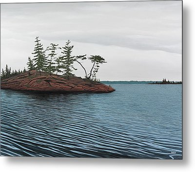 Windswept Island Georgian Bay Metal Print by Kenneth M  Kirsch
