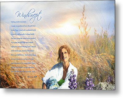 Windswept Poem Metal Print by Korrine Holt