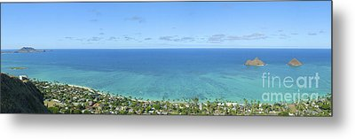 Windward Oahu Panorama II Metal Print by David Cornwell/First Light Pictures, Inc - Printscapes