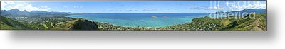 Windward Oahu Panoramic Metal Print by David Cornwell/First Light Pictures, Inc - Printscapes