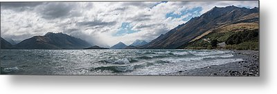 Metal Print featuring the photograph Windy Day On Lake Wakatipu by Gary Eason