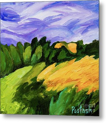 Metal Print featuring the painting Windy by Igor Postash