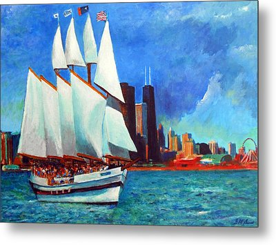 Windy In Chicago Metal Print by Michael Durst