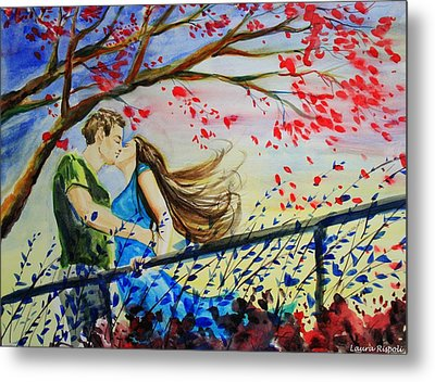 Windy Kiss Metal Print by Laura Rispoli