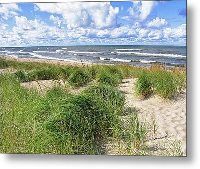 Metal Print featuring the photograph Windy Shoreline by Kathi Mirto