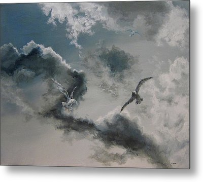Windy Weather Metal Print by Diane Kraudelt