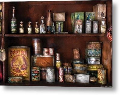 Wine - Rum And Tobacco Metal Print by Mike Savad