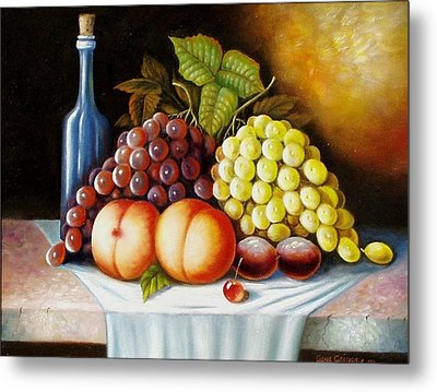 Metal Print featuring the painting Wine And Dine by Gene Gregory