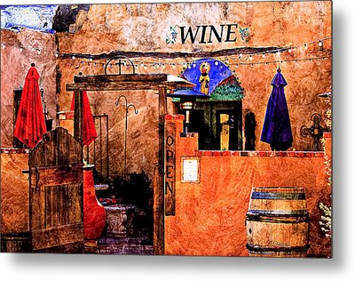 Metal Print featuring the photograph Wine Bar Of The Southwest by Barbara Chichester