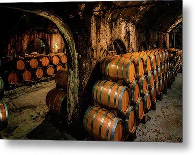 Wine Barrels At Stone Hill Winery_7r2_dsc0318_16-08-18 Metal Print