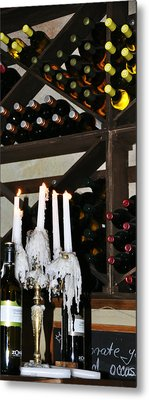 Wine By Candlelight Metal Print by Rose  Hill