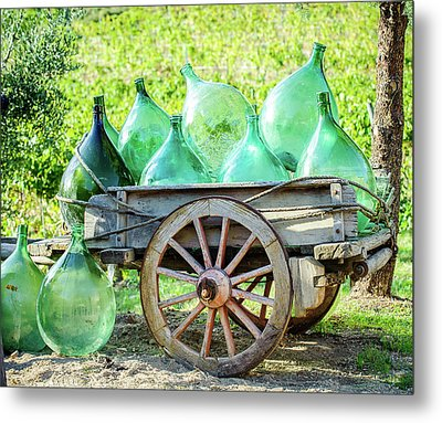 Wine Cart Metal Print by Marla Hunt