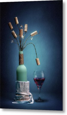 Wine Cork Bouquet Metal Print by Tom Mc Nemar