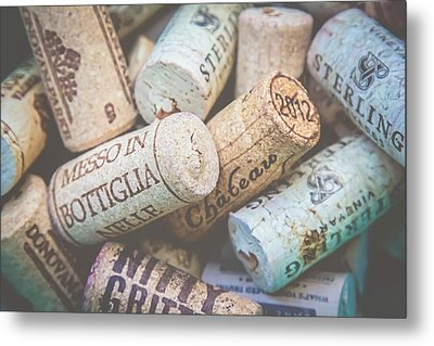 Metal Print featuring the photograph Wine Corks by April Reppucci