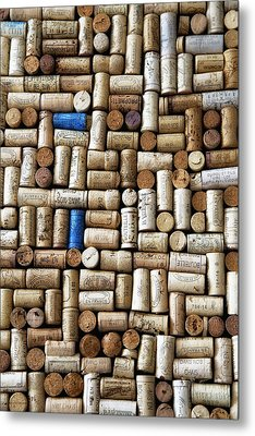 Wine Corks Metal Print