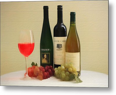 Wine Display Barn Door  Metal Print by Dan Sproul