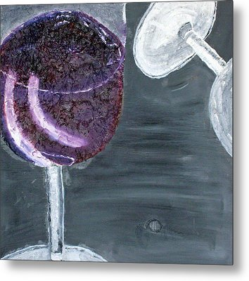 Wine From The Vine To The Glass Metal Print