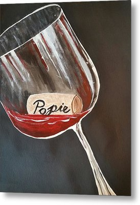 Wine Glass Metal Print by Carol Duarte